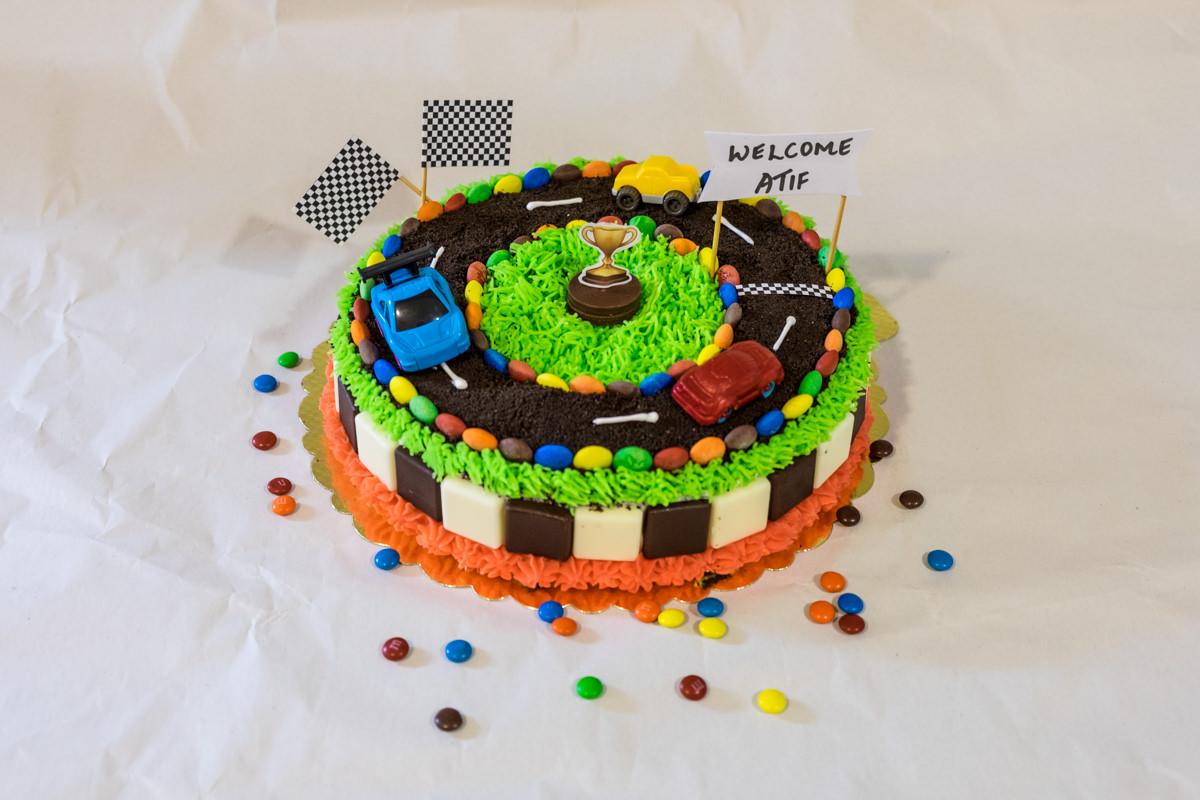 Racing inspired cake